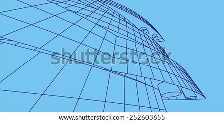 abstract architectural building