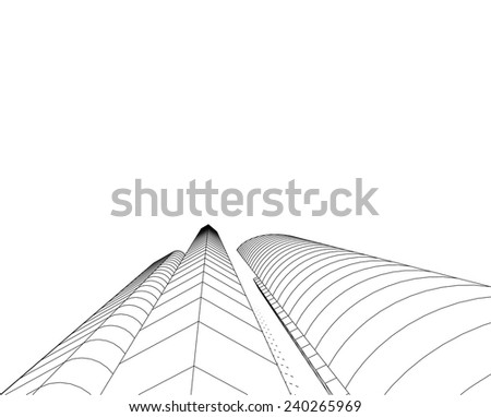 abstract architectural buildings
