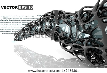 Abstract Architecture. Concept of organic architecture. Edit and insert your text. - stock vector