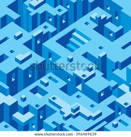 Abstract Architecture Seamless Texture Pattern - stock vector