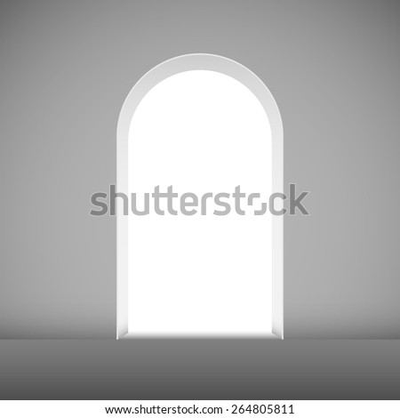Abstract archway to the light vector template. - stock vector