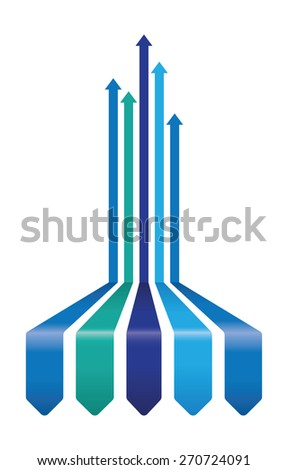 abstract arrow background - stock vector