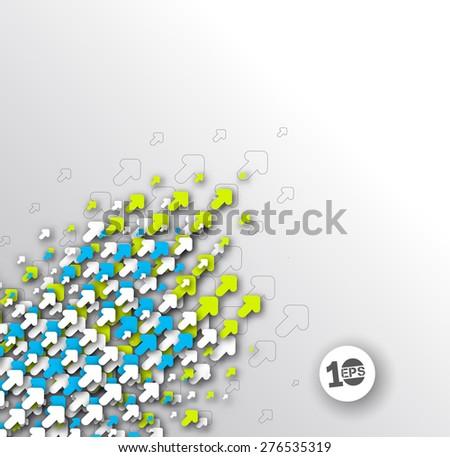 Abstract Arrow Design, eps10 vector - stock vector