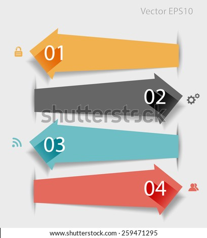 Abstract arrow design infographic elements. Vector eps10