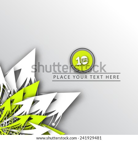 Abstract arrow element with colorful gradients vector background. - stock vector