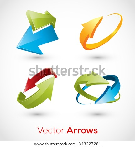 Abstract Arrow Icon. Logo Sign Concept.  Vector Illustration. - stock vector