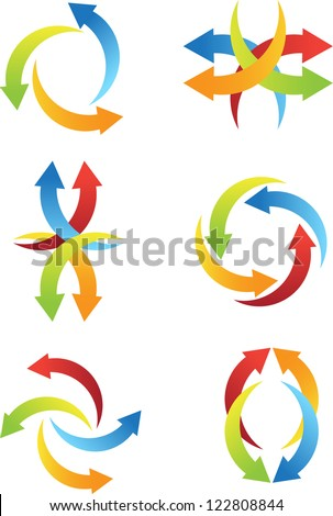abstract arrow icons