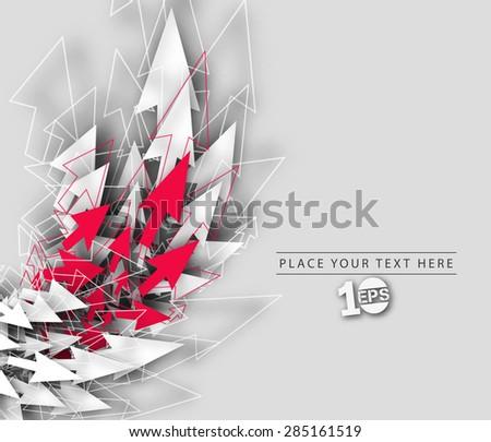 Abstract Arrow Wave Design, eps10 vector  - stock vector