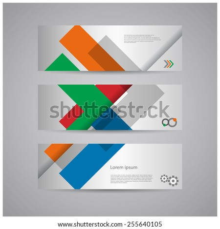 Abstract arrows background banners design, eps10 Vector. - stock vector