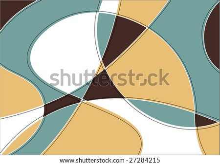 Abstract art background in stained-glass window style - stock vector