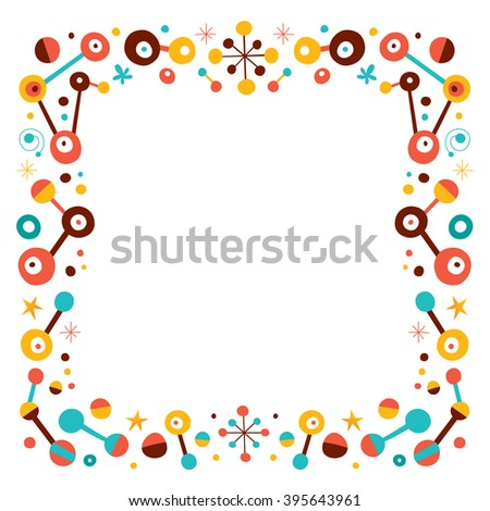 abstract art retro border design elements - stock vector