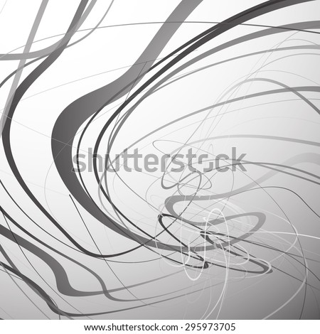 Abstract art vector. Abstract background with curvy, curved lines, shapes. - stock vector