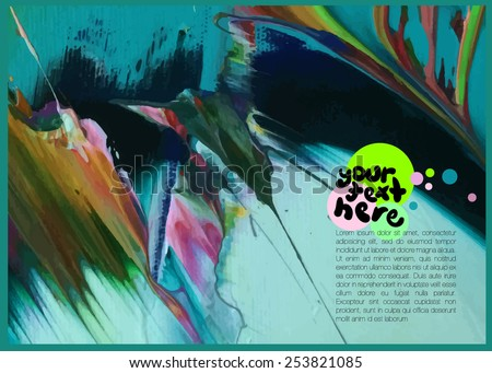 abstract artistic background for text - stock vector