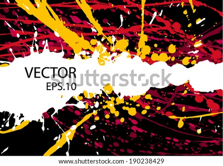 Abstract artistic Background forming by blots - stock vector