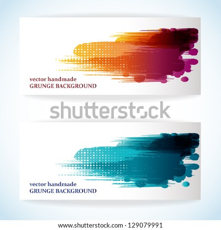 Abstract artistic Background forming by blots. EPS10. - stock vector