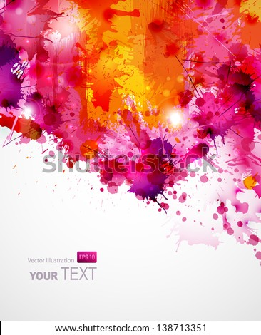 Abstract artistic Background of bright colors - stock vector