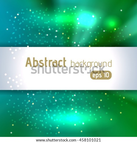 Abstract artistic background with place for text. Color rays of light. Original sparkle design. Green, blue colors.  - stock vector