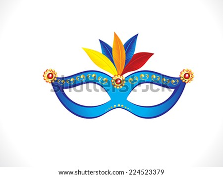 abstract artistic blue mask vector illustration - stock vector