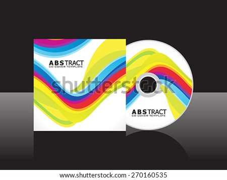 abstract artistic colorful cd cover template vector illustration - stock vector