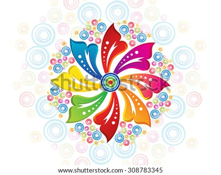 abstract artistic colorful floral background vector illustration - stock vector