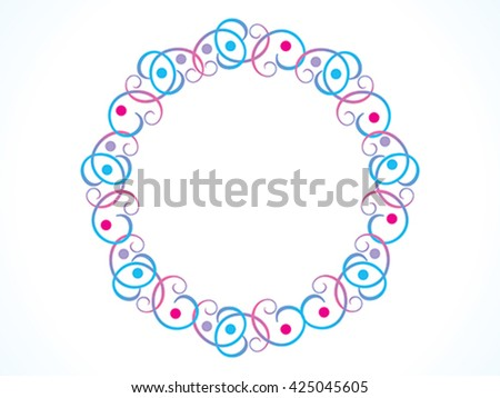 abstract artistic colorful floral border vector illustration - stock vector