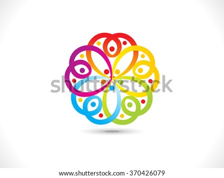 abstract artistic colorful floral shape vector illustration - stock vector