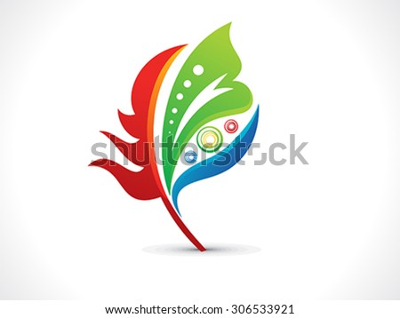 abstract artistic colorful floral vector illustration - stock vector