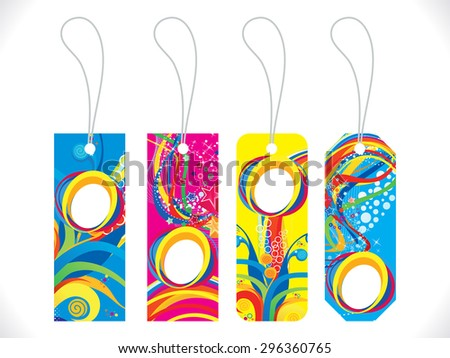 abstract artistic colorful multiple tag vector illustration - stock vector