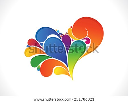abstract artistic colorful valentine heart vector illustration - stock vector
