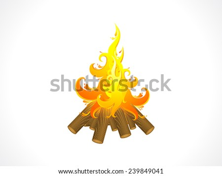 abstract artistic detailed burning wood flame background vector illustration - stock vector