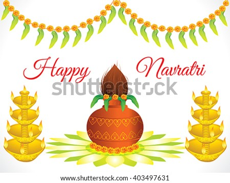 abstract artistic detailed navratri background vector illustration - stock vector