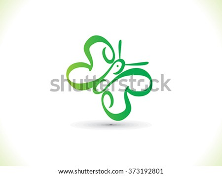 abstract artistic eco butterfly vector illustration - stock vector