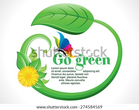 abstract artistic go green background vector illustration - stock vector