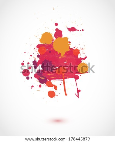 Abstract artistic paint vector background - stock vector