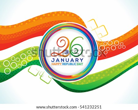 abstract artistic republic day background vector illustration