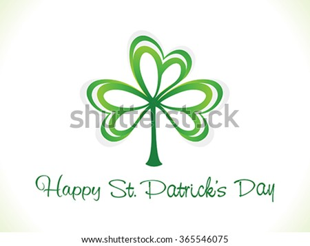 abstract artistic st patric background vector illustration - stock vector