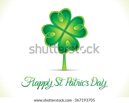 abstract artistic st patrick day background vector illustration - stock vector