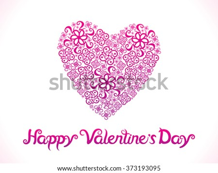 abstract artistic valentine heart vector illustration - stock vector