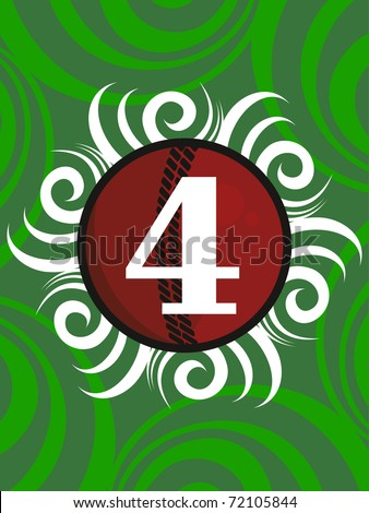 abstract artwork green background with score written leather ball - stock vector