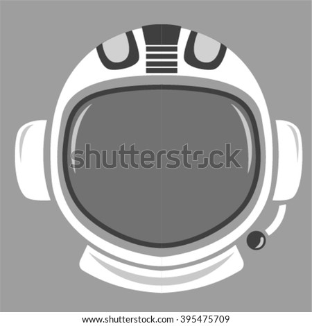 abstract astronaut helmet to space travel vector emblem isolated  - stock vector