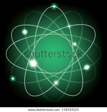 abstract atomic model. eps10 - stock vector