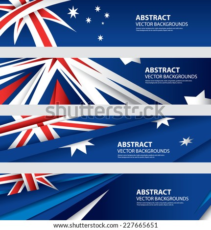 Abstract Australian Flag, Australia Colors , Abstract Background, Colorful Template  (Vector Art) - stock vector