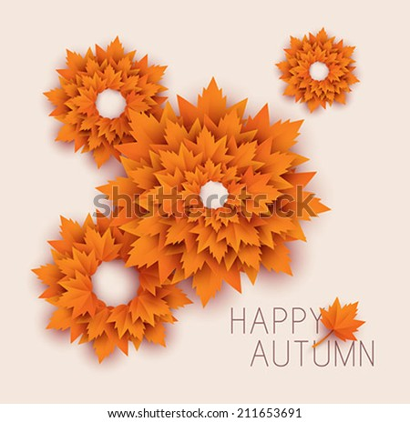 abstract autumn backgrounds vector - stock vector