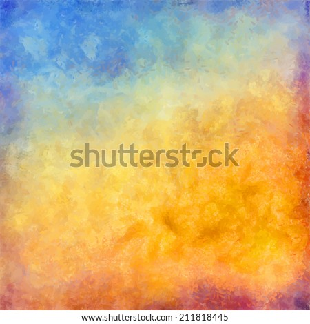 Abstract autumn vector digital oil painting background - stock vector