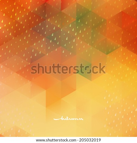 Abstract autumnbackground template. And also includes EPS 10 vector - stock vector