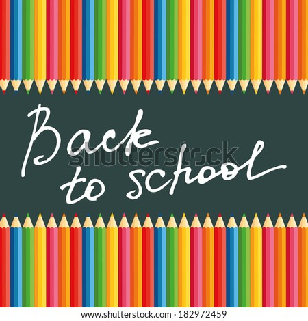 abstract back to school background with special objects