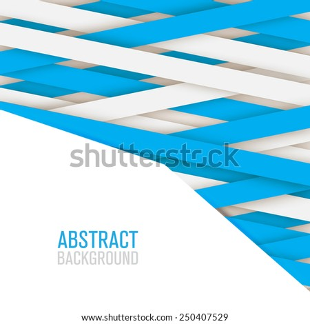 Abstract backgound lines paper style isolated  - stock vector