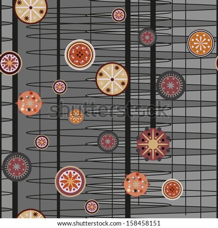 Abstract background a pattern with circles brown - stock vector