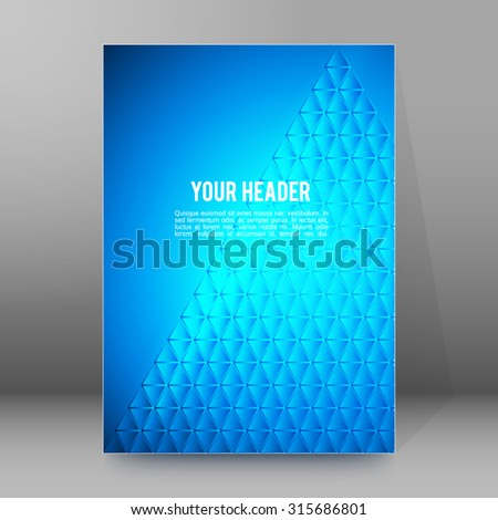 Abstract background advertising brochure design elements pyramid. Glowing light effect glass graphic form for elegant flyer. Vector illustration EPS 10 for booklet layout page, newsletters, banner - stock vector