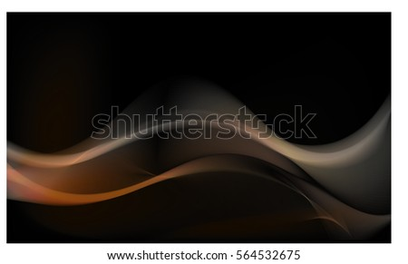 Abstract background advertising vector shiny colorful wave line yellow